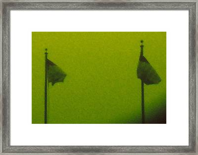 Green Flags Framed Print by Lawrence Horn