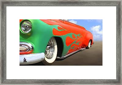 Green Flames Framed Print