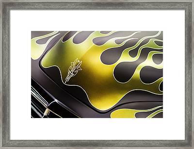 Green Flames Framed Print by Rebecca Cozart