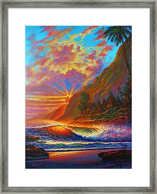 Green Flash Framed Print