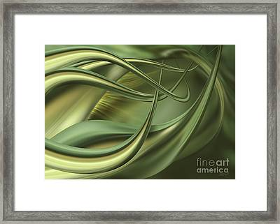 Green Flow Framed Print