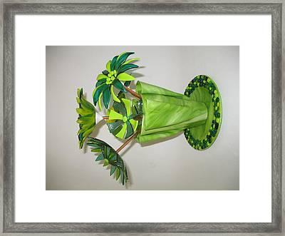 Green Flowers Framed Print by Steven Schramek
