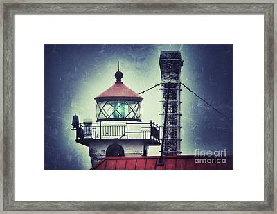Framed Print featuring the photograph Green Fresnel Gleaming by Mark David Zahn Photography