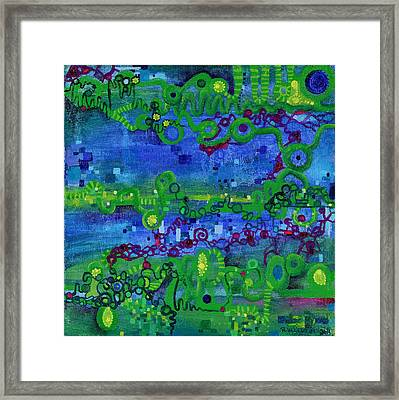 Green Functions Framed Print by Regina Valluzzi