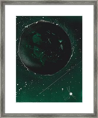 Green Galaxies Framed Print