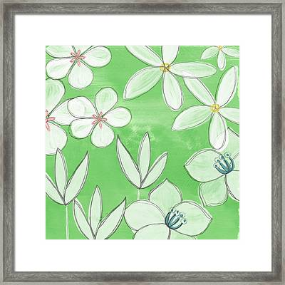 Green Garden Framed Print