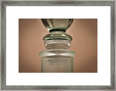 Green Glass Bottle Framed Print
