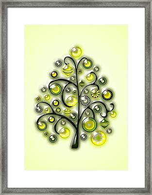 Green Glass Ornaments Framed Print by Anastasiya Malakhova