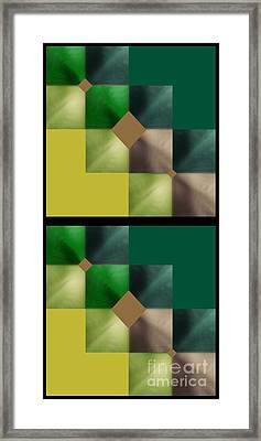 Green Glow Check Framed Print