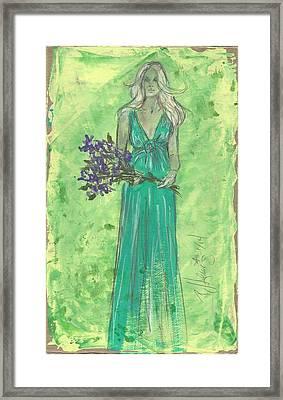 Green Goddess Dressing Framed Print by P J Lewis