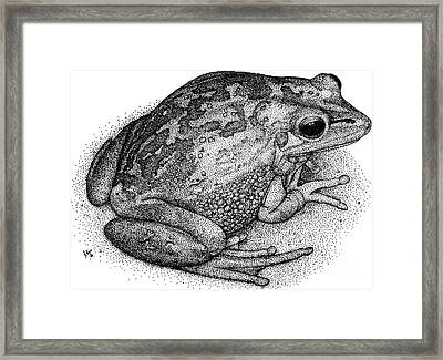 Green Golden Bell Frog Framed Print