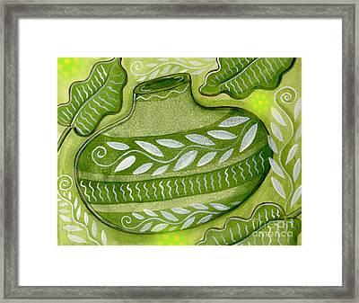 Green Gourd Framed Print