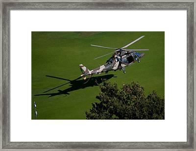 Green Grass Landing  Framed Print by Paul Job