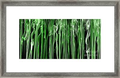 Green Grass Smoke Photography Framed Print