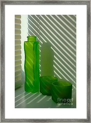 Green Green Glass Framed Print by Randi Grace Nilsberg