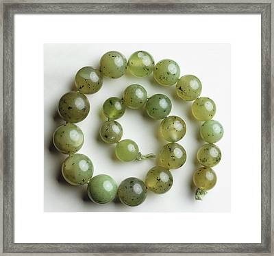 Green Grossular (garnet) Framed Print