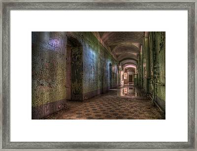 Green Hallway Framed Print by Nathan Wright