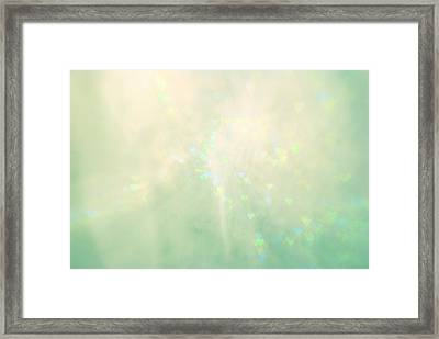 Green Hearts Framed Print