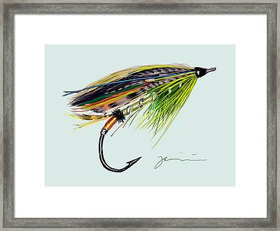 Green Highlander Framed Print