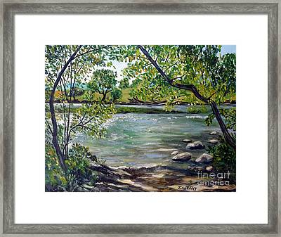 Green Hill Park On The Roanoke River Framed Print