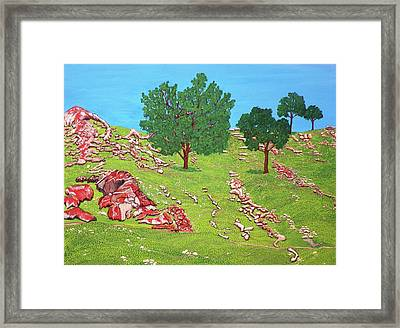 Green Hillside Framed Print
