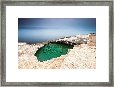 Green Hole Framed Print by Evgeni Dinev