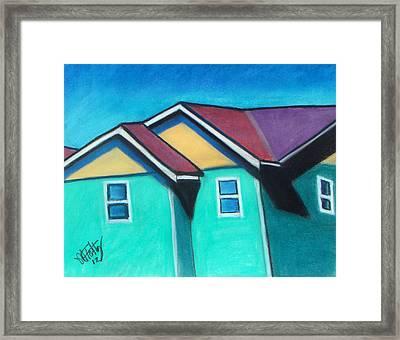 Green Homes Framed Print