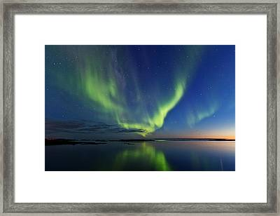 Green Horizon Framed Print