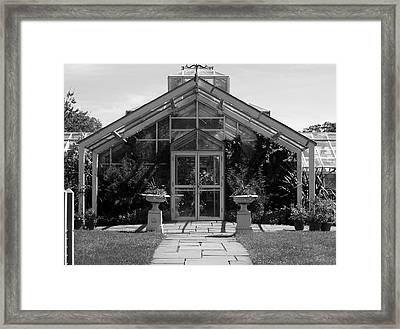Framed Print featuring the photograph Green House by Roseann Errigo