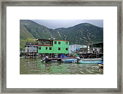 Framed Print featuring the photograph Green House  by Sarah Mullin