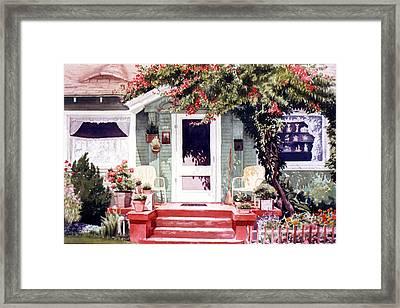 Green House Third Street Encinitas Framed Print by Mary Helmreich