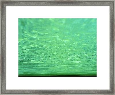 Green Ice Planet Framed Print by Jaime Neo