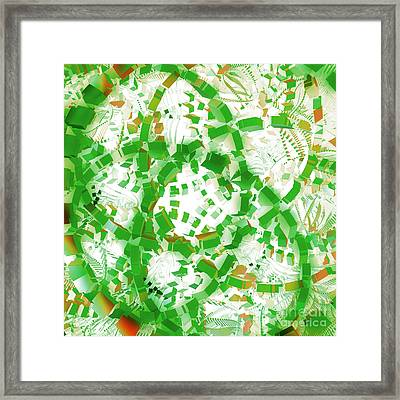 Green Industrial Abstract Framed Print
