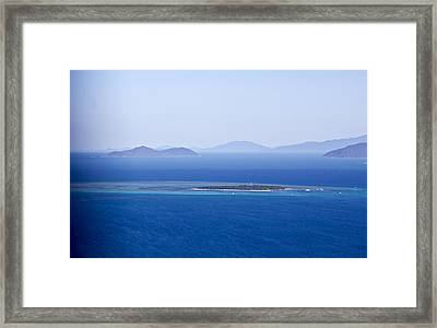 Green Island With Fitzroy Island In The Back Ground Framed Print