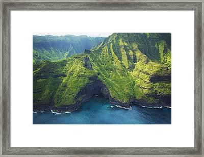 Green Kauai Cavern Framed Print