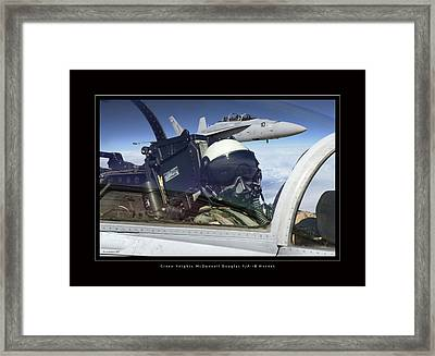 Green Knights Framed Print by Larry McManus