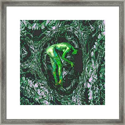 Framed Print featuring the painting Gaia Earthly Goddess Nymph Farie Mother Earth Fine Art Print by David Mckinney