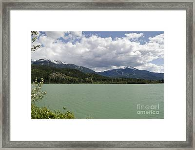 Framed Print featuring the photograph Green Lake At Whistler by Maria Janicki