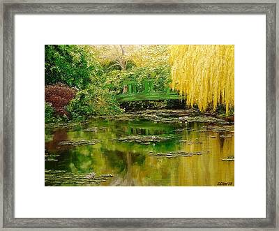 Green Lake Framed Print by Svetla Dimitrova