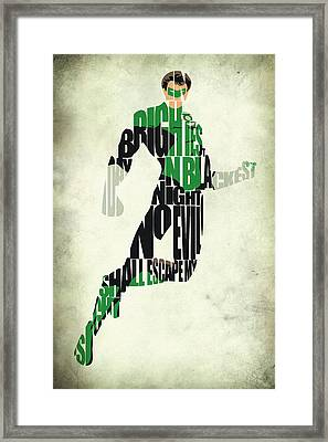 Green Lantern Framed Print