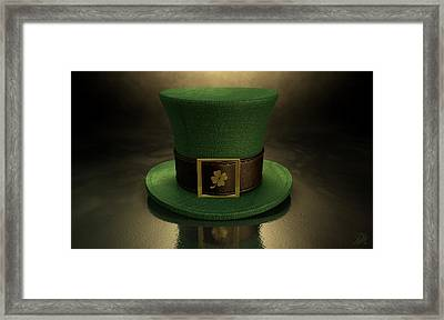 Green Leprechaun Shamrock Hat Framed Print