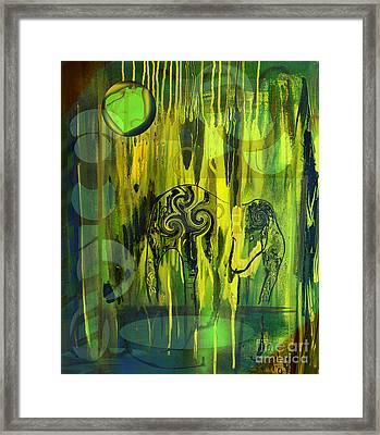 Green Light Framed Print by Yul Olaivar