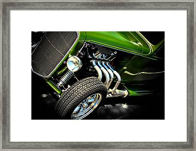 Old Car Framed Print featuring the photograph Green Machine  by Aaron Berg