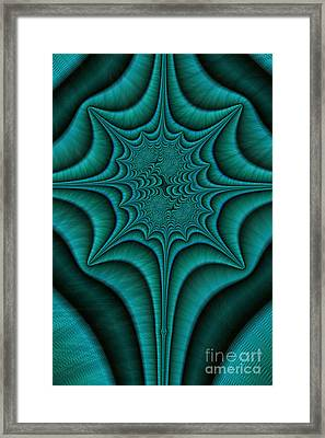 Green Malachite Abstract Framed Print