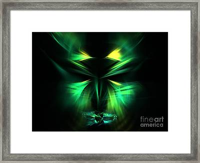 Green Man Framed Print by Kim Sy Ok