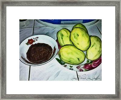 Green Mangoes Framed Print