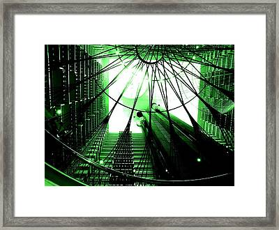 Framed Print featuring the photograph Green Marriott Marque by Cleaster Cotton