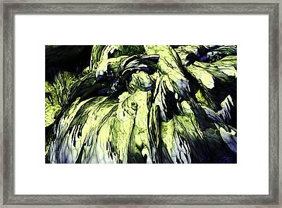 Framed Print featuring the digital art Green by Matt Lindley