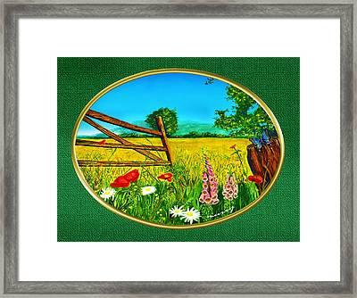 Green Meadow Framed Print by Russ Murry