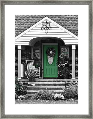 Green Means Go Framed Print by Frozen in Time Fine Art Photography